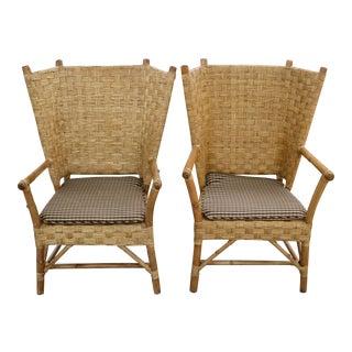 Vintage 70's Fan-Back Chairs