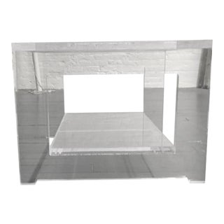 Thick, Polished Lucite Side Table