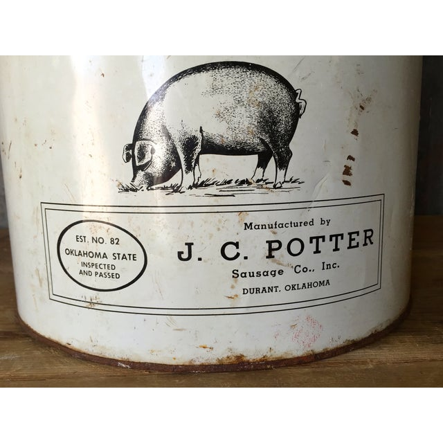 Vintage Lard Container From Oklahoma For Sale In Austin - Image 6 of 11