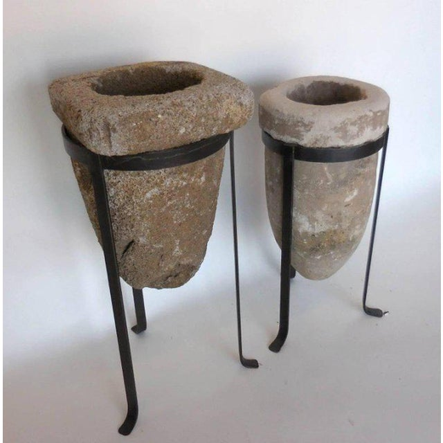 Pair of 19th Century Stone Water Filters on Bases For Sale - Image 10 of 10