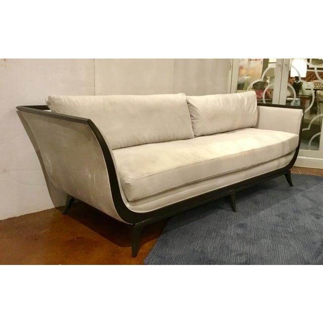 Caracole Modern Love A-Flair Velvet Sofa For Sale In Atlanta - Image 6 of 6