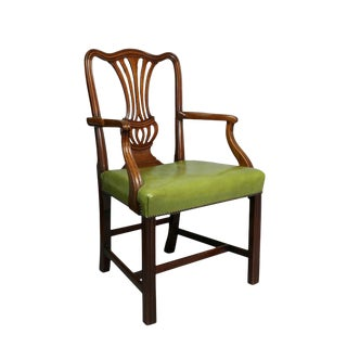 Pair of George III Mahogany Armchairs For Sale