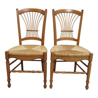 Pair of Hickory Chair Company Fan Back Windsor Side Chairs B For Sale