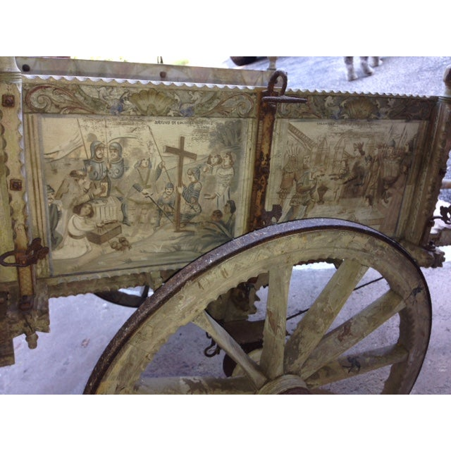 19th-Century Sicilian Goat Cart For Sale - Image 5 of 9
