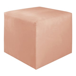 Titan Pink Champagne Cube Ottoman For Sale