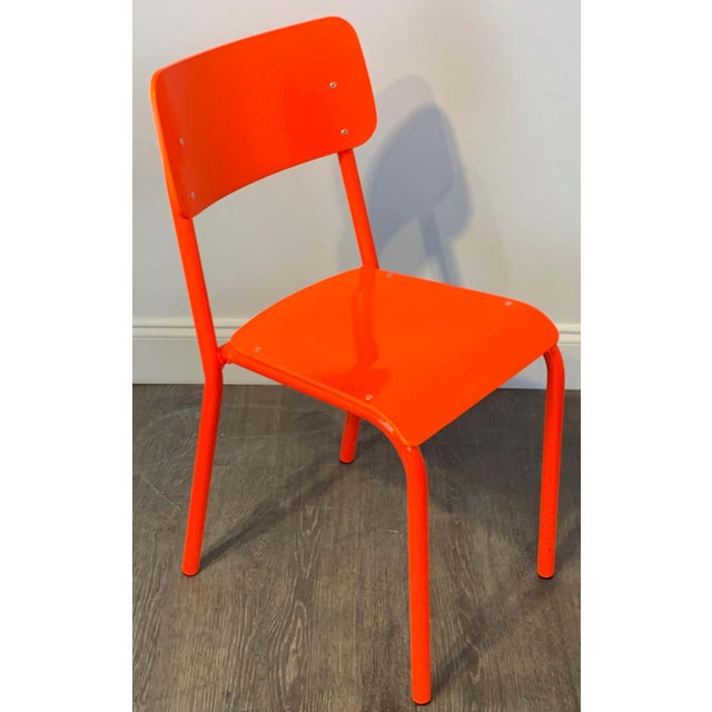 Declercq Mobilier Modern Ml45 Neon Red Chairs - Set of 6 For Sale - Image 4 of 13
