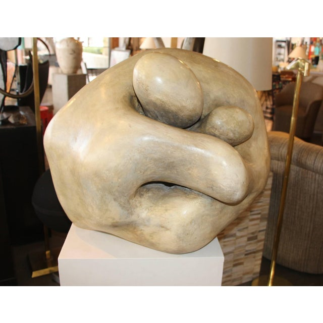1950s Plaster Figurative Sculpture Purchased at a Nyc Gallery For Sale In Palm Springs - Image 6 of 10