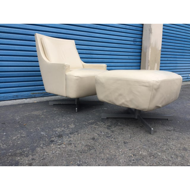 Scoop Lounge Chair Leather in Equestrian 705-20 Jodhpur Metal Base - Satin Pewter Powder Coated Style # HLP402-011 About...