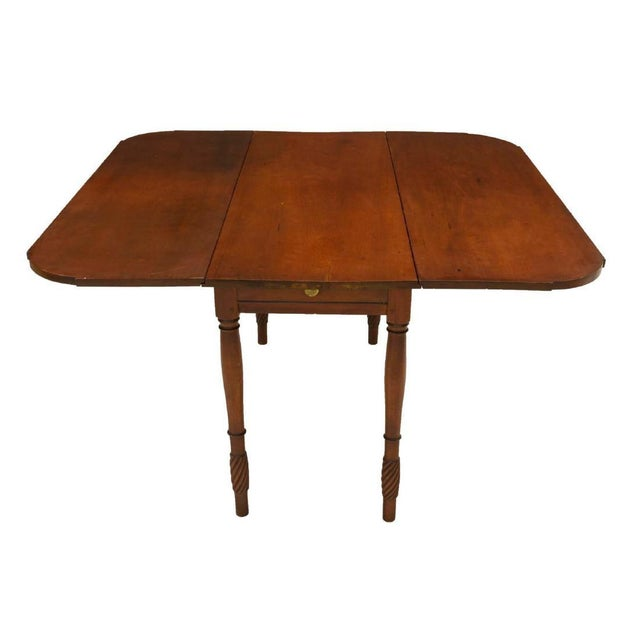 Classic American Kentucky Cherrywood Pembroke Drop-Leaf Table For Sale - Image 4 of 6