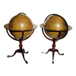 Pr. Of Wonderful 19 C. English Terrestrial Globe by Edward Stanford For Sale
