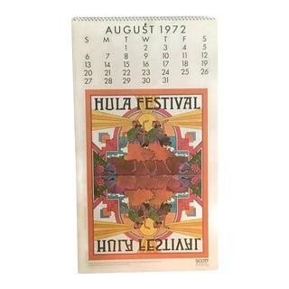 1972 Vintage Americana Pop Art Calendar