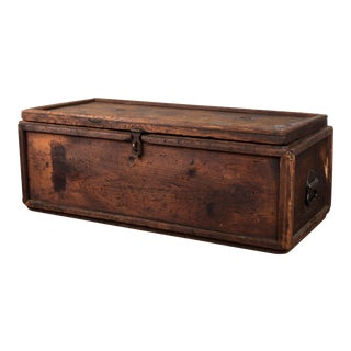 Early 20th Century Wooden Box For Sale