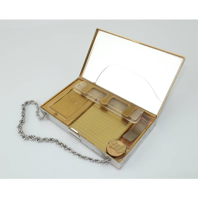 Glass Evans Mother of Pearl Compact Wristlet Handbag, 1950s For Sale - Image 7 of 11