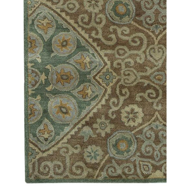 Hand Tufted Brown Wool & Cotton Victoria Rug - 8′ × 10′ - Image 2 of 4