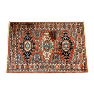 Large Belgium Hand Knotted Wool Area Rug For Sale