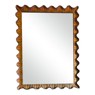 Mid-Century Italian Regency Gilt Wood Mirror For Sale