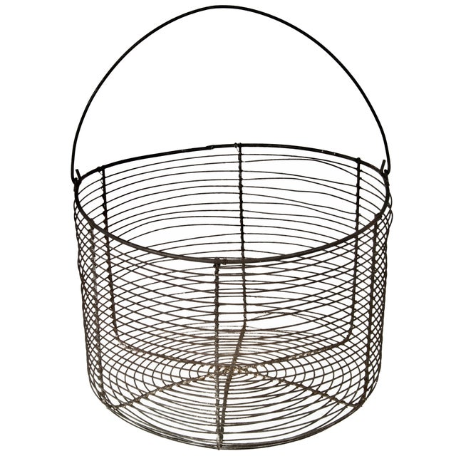 Vintage French Wire Basket - Image 1 of 3