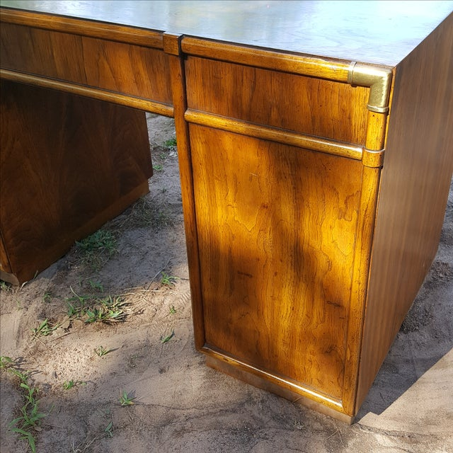1960s Drexel Campaign Style Desk - Image 10 of 10