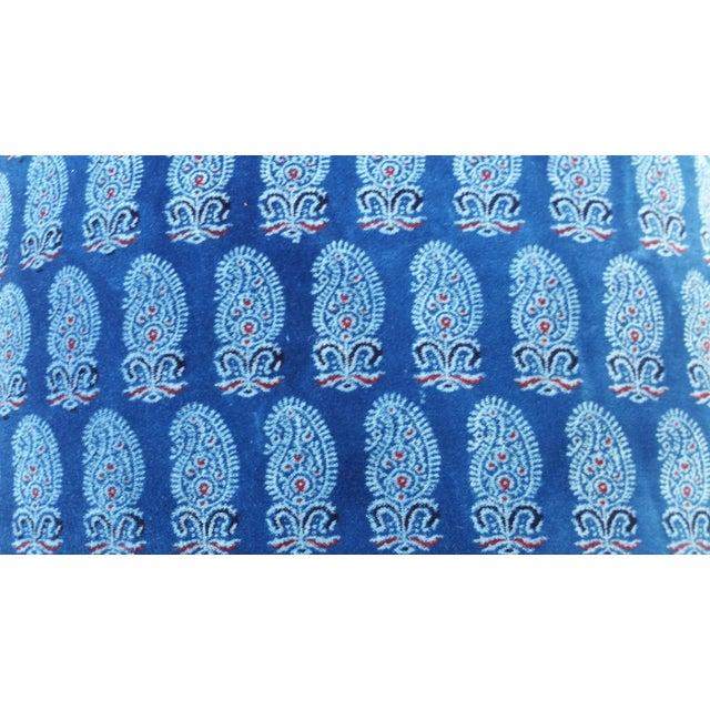 Faded Indigo Velvet Pillows - A Pair - Image 3 of 6