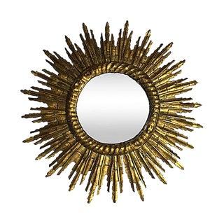 French Gilt Starburst Mirror For Sale