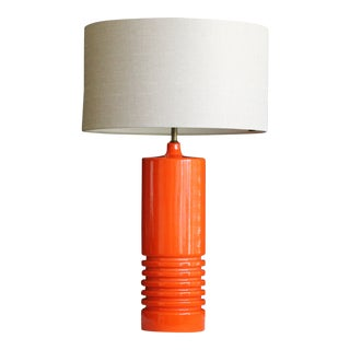 1960s Vintage Sculptural Ceramic Table Lamp For Sale