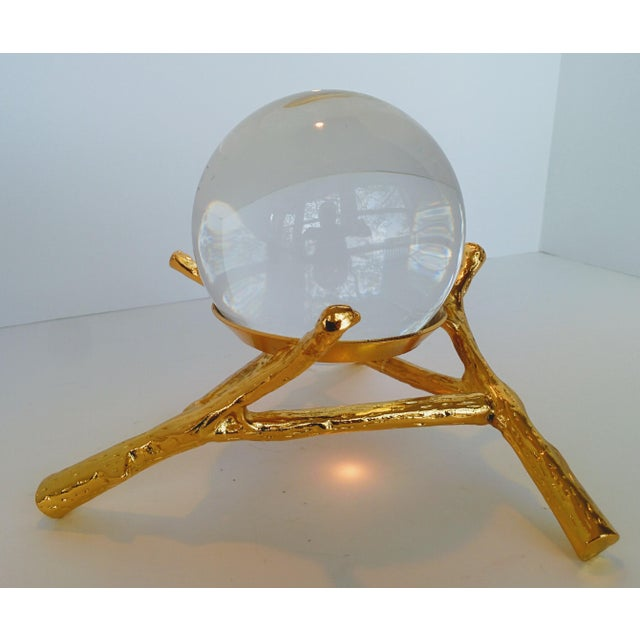 Crystal Orb With Gold Base - Image 2 of 9
