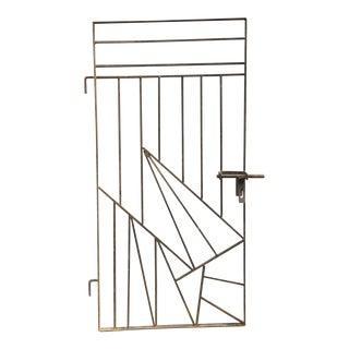 Mid Century Modern Custom Iron Gate For Sale