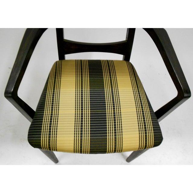Mid-Century Black Teak Dining Chairs - Set of 6 - Image 6 of 8