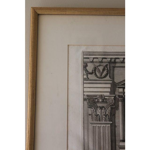Printmaking Materials Early 19th Century Antique Prospetto Del Finestreno Architectural Print For Sale - Image 7 of 12