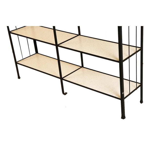 Mid-Century Fredrick Weinberg Iron Étagère Shelving Unit For Sale In Baltimore - Image 6 of 12