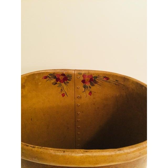 Antique French Floral Waste Basket For Sale - Image 4 of 7