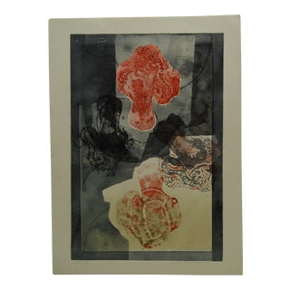 """Abstract French Print """"Ballade en Fumee"""" by M. Birswaufer For Sale"""