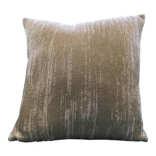 Gold Knit Pillow