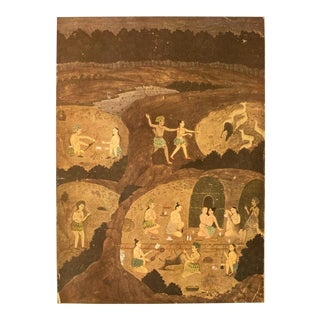 Rare 1950 Gazelle Hunt by Night, Gold-Leafed Original Parisian Lithograph For Sale