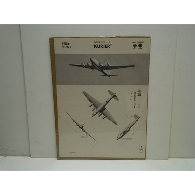 """This is a Vintage -- World War II Aircraft Recognition Poster -- """"Focke Wulf Kurier"""" -- German -- November 1942 -- The..."""