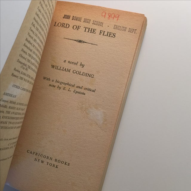 Lord of the Flies by William Golding, 1959 For Sale - Image 4 of 5