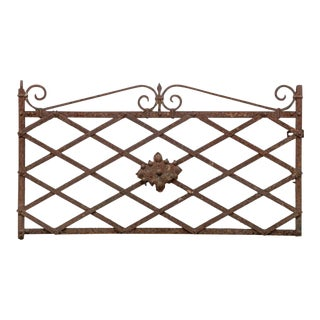 Antique Iron Panel Garden Element For Sale