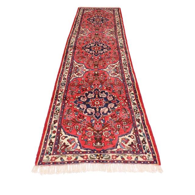 "Vintage Persian Rudbar Runner - 2'6"" X 9'4"" For Sale - Image 4 of 4"