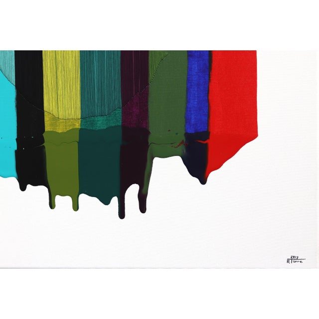 "2010s ""Fils I Colors Cccxciii"" Original Artwork by Raul De La Torre For Sale - Image 5 of 9"