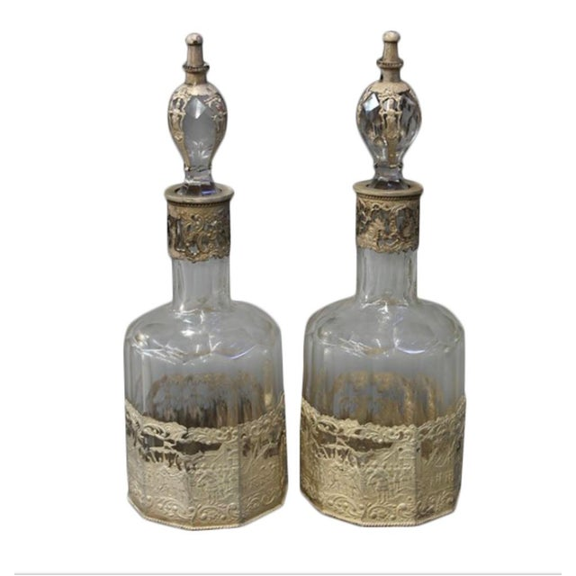 Continental Crystal Decanters - A Pair - Image 4 of 4