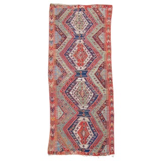 Turkish Anatolian Kilim Rug - 7′6″ × 16′9″ For Sale