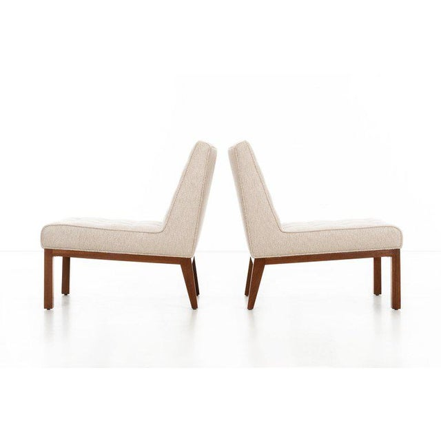 Mid-Century Modern Edward Wormley Pair of Slipper Chairs For Sale - Image 3 of 4
