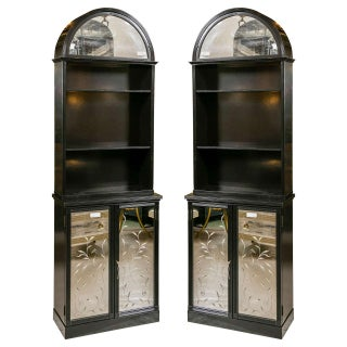 Jansen-Attributed Glass Dome Cabinets - A Pair For Sale