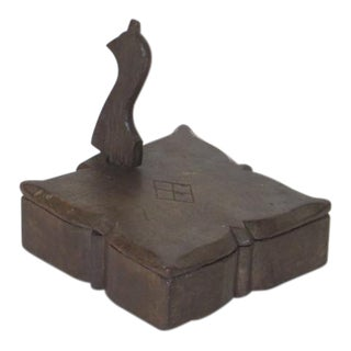 1920s Wooden Spice Container For Sale