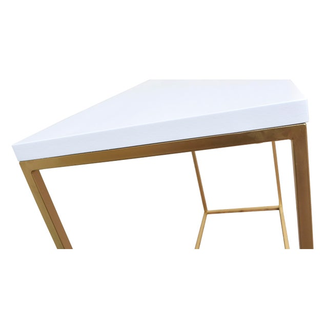 White and Gold Console Table - Image 4 of 4