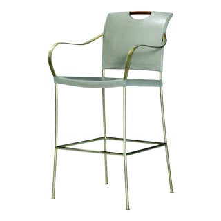 Century Furniture Canvas Bar Stool, Dove Grey For Sale