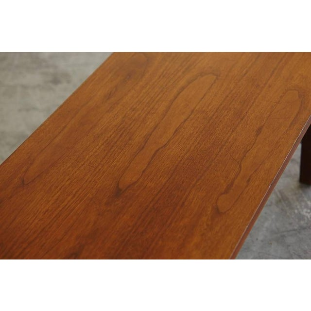Silver Paul McCobb Walnut and Aluminum Coffee Table for Calvin Furniture For Sale - Image 8 of 9