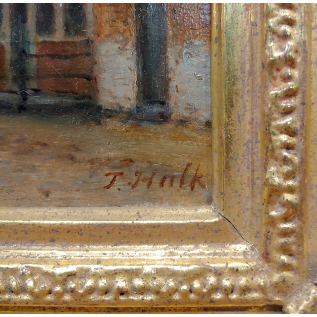 Johannes Frederick II Hulk -19th C. Early Market Day in Amsterdam-Oil Panting For Sale In Los Angeles - Image 6 of 11
