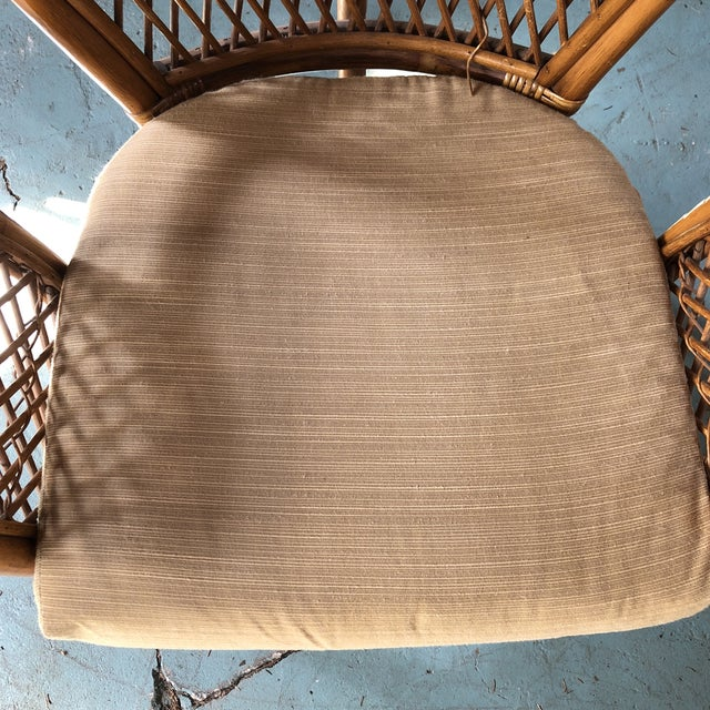 1980s Boho Chic Rattan Fan Peacock Chairs - a Pair For Sale - Image 12 of 13