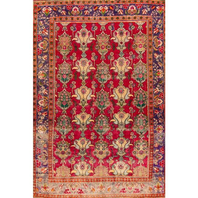 "Apadana - Vintage Persian Tabriz Rug, 8'7"" x 12'5"" - Image 5 of 5"